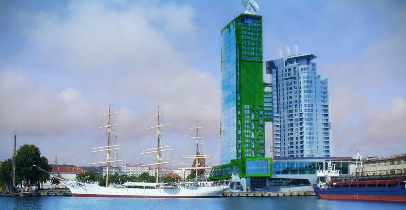 Sea Tower as a symbol of a city of the future