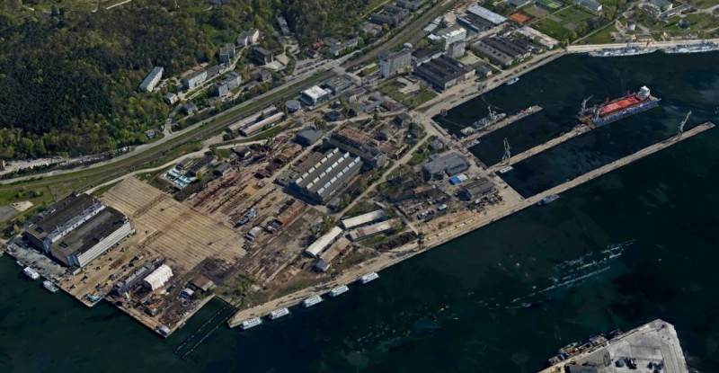 Former shipyard grounds for sale