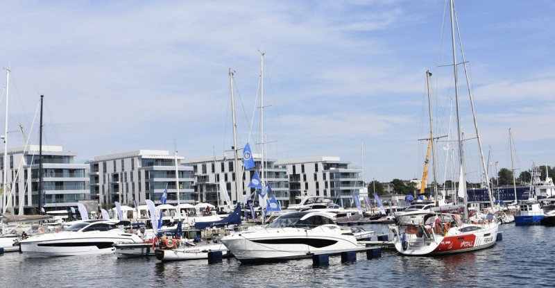 Luxury yachts at the Gdynia Marina