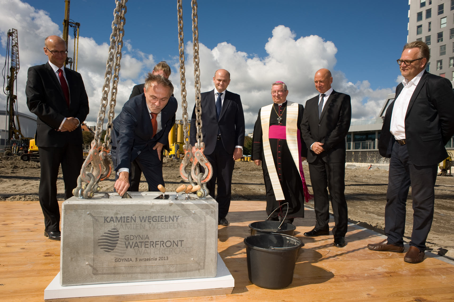 Foundation stone in Gdynia Waterfront